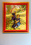 """""""Mother and Daughter in the Shadow of a Tree"""" by Jens Ferdinand Willumsen ( 1863-1958), oil on canvas, Kode 4 art gallery Bergen, Norway - check copyright status for intended use"""