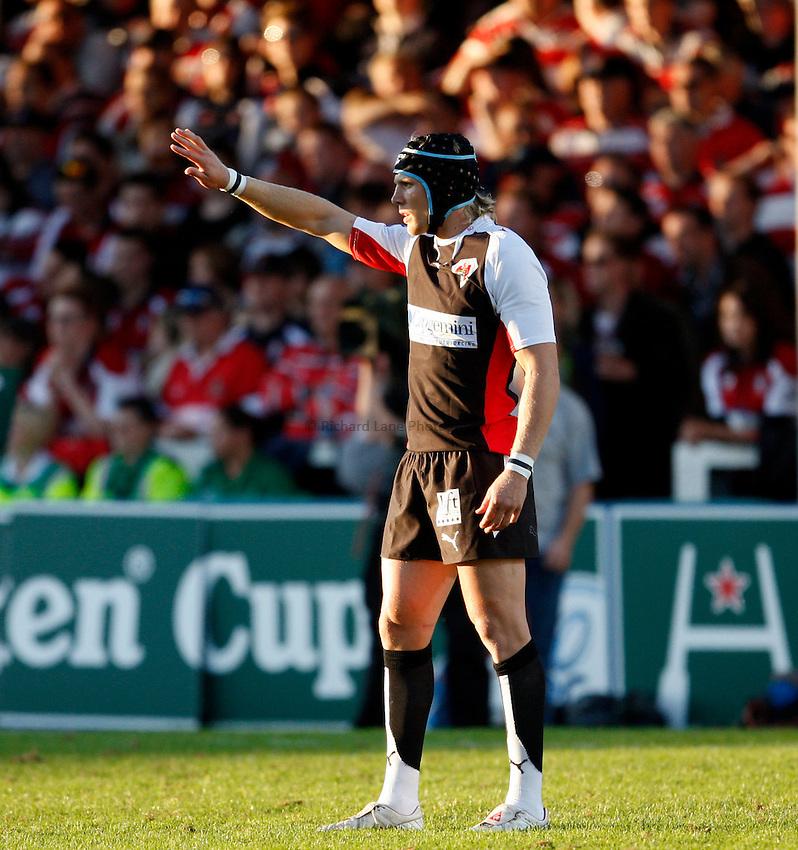 Photo: Richard Lane/Richard Lane Photography. Gloucester Rugby v Biarittz. Heineken Cup. 11/10/2008. Biarittz' Magnus Lund.