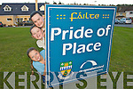 Soirse McGough, Kelsey Summers and Candice Battles, Children from Ballyspillane which won the all Ireland pride of place award which was won by the estate.