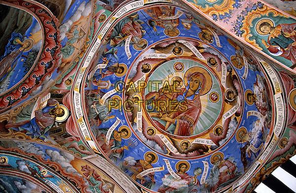 Fresco, Nativity Church, Rila Monastery, Bulgaria