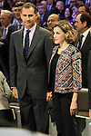 "The kings of Spain make delivery of accreditation to the new ambassadors fees ""Marca España"" in his 6th edition at BBVA City in Madrid, November 12, 2015.<br /> (ALTERPHOTOS/BorjaB.Hojas)"