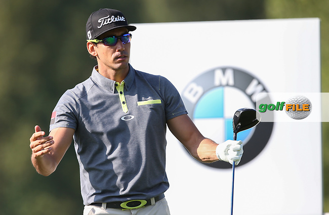 Rafa Cabrera-Bello (ESP) gestures discontent early in his round during Round Two of the 2015 BMW International Open at Golfclub Munchen Eichenried, Eichenried, Munich, Germany. 26/06/2015. Picture David Lloyd | www.golffile.ie