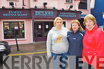 Patricia O'Connor owner of Den Joes Restaurant Killarney with Joan Murphy right and Aisling Kelly left who helped to stop the fire which would have burnt the building completly