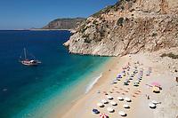 Turkey, Province Antalya, near Kalkan: Kaputas beach | Tuerkei, Provinz Antalya, bei Kalkan: Kaputas beach