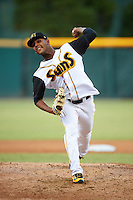 Jacksonville Suns starting pitcher Jarlin Garcia (30) delivers a pitch during a game against the Mobile BayBears on April 18, 2016 at The Baseball Grounds in Jacksonville, Florida.  Mobile defeated Jacksonville 11-6.  (Mike Janes/Four Seam Images)