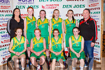 The Team Kerry team that played in the U14 final on Sunday front row l-r: Kelly Enright, Leah McMahon, Roisin Rahilly, Ella Quirke, Back row: Niamh collins, Anna Daly, Orla Burke, Mia Griffin Katie McCarthy Tommy O'Connor