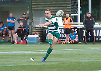 Craig Willis of Ealing Trailfinders scores from the conversion during the RFU Championship Cup match between Ealing Trailfinders and Ampthill RUFC at Castle Bar , West Ealing , England  on 28 September 2019. Photo by Alan  Stanford / PRiME Media Images