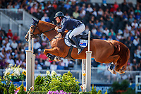 AUS-Billy Raymont rides Oaks Redwood during the FEI World Team and Individual Jumping Championships. 2018 FEI World Equestrian Games Tryon. Friday 21 September. Copyright Photo: Libby Law Photography