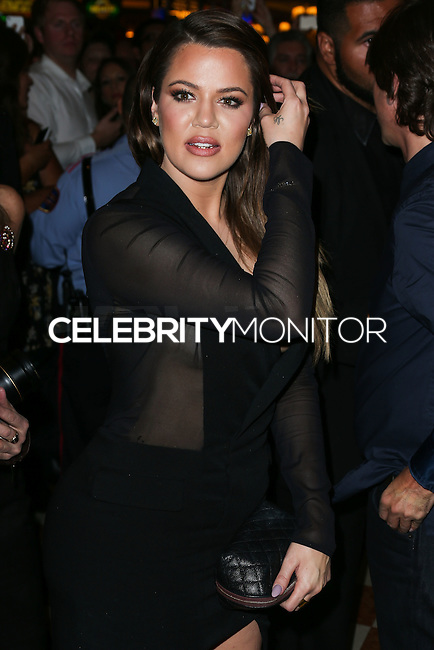 LAS VEGAS, NV, USA - OCTOBER 25: Khloe Kardashian arrives at Kim Kardashian West's 34th Birthday Celebration held at TAO Nightclub at The Venetian Las Vegas on October 25, 2014 in Las Vegas, Nevada, United States. (Photo by Xavier Collin/Celebrity Monitor)
