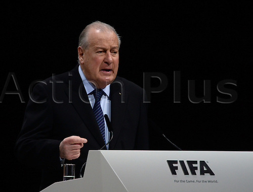 Francois Carrard, chairman of the FIFAreform commission, speaks during the Extraordinary FIFA Congress 2016 at the Hallenstadion in Zurich, Switzerland, 26 February 2016. The Extraordinary FIFA Congress is being held in order to vote on the proposals for amendments to the FIFA Statutes and choose the new FIFA President.