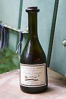 Vin de Laurence, Vin de Liqueur, Vendanges en surmaturite, harvest when the grapes are over-ripe. Domaine du Mas de Daumas Gassac. in Aniane. Languedoc. France. Europe. Bottle.