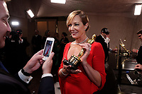 Allison Janney at the Governors Ball with the Oscar&reg; for performance by an actress in a supporting role for work on &ldquo;I, Tonya&rdquo; after the live ABC Telecast of The 90th Oscars&reg; at the Dolby&reg; Theatre in Hollywood, CA on Sunday, March 4, 2018.<br /> *Editorial Use Only*<br /> CAP/PLF/AMPAS<br /> Supplied by Capital Pictures