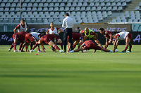 16th July 2020; Olympic Grande Torino Stadium, Turin, Piedmont, Italy; Serie A Football, Torino versus Genoa; Torino FC players during the pre-game warm-up