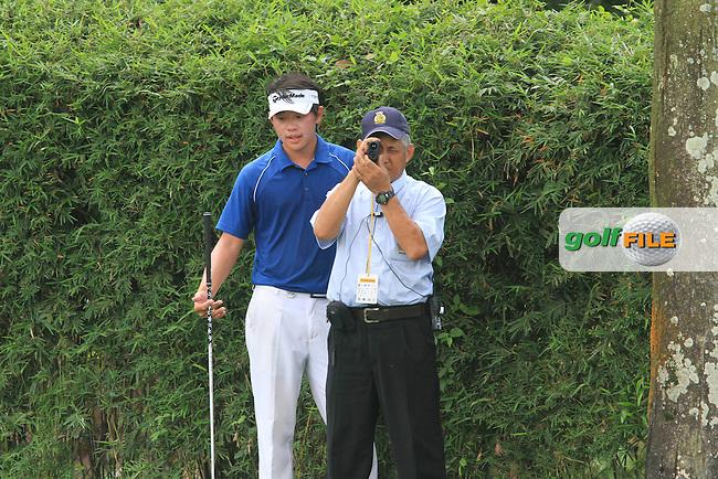 Ben Leong (MAS) on the 5th on Day 2 of the Maybank Malaysian Open 2012 at Kuala Lumpur Golf and Country Club, Kuala Lumpur, Malaysia...(Photo Jenny Matthews/www.golffile.ie)