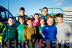 Pictured at the Kingdom Greyhound Stadium, Tralee, GAA Night of Championson Friday night last were l-r: Rory Whelan, Killian Murphy, Sonny Sheridan, Katelyn O'Sullivan, Ellie O'Sullivan, Ryan O'Rourke, Aaron White with Kerry players Stephen O'Sullivan and Sean O'Shea.