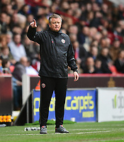 Sheffield United manager Chris Wilder shouts instructions to his team from the dug-out<br /> <br /> Photographer Chris Vaughan/CameraSport<br /> <br /> The EFL Sky Bet League One - Sheffield United v Charlton Athletic - Saturday 18th March 2017 - Bramall Lane - Sheffield<br /> <br /> World Copyright &copy; 2017 CameraSport. All rights reserved. 43 Linden Ave. Countesthorpe. Leicester. England. LE8 5PG - Tel: +44 (0) 116 277 4147 - admin@camerasport.com - www.camerasport.com