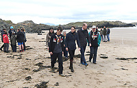 08 May 2019 - Wales, UK - Prince William Duke of Cambridge and Kate Duchess of Cambridge, Katherine, Catherine Middleton walk along Newborough Beach on Anglesey, North Wales. The Duke and Duchess of Cambridge visited North Wales to meet with individuals and organisations in the region to learn more about their efforts to take care of their communities and protect the natural environment. Photo Credit: ALPR/AdMedia