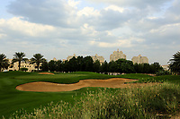 A general view of the 10th green during the first round of the Ras Al Khaimah Challenge Tour Grand Final played at Al Hamra Golf Club, Ras Al Khaimah, UAE. 31/10/2018<br />