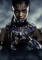 Black Panther (2018) <br /> Letitia Wright<br /> *Filmstill - Editorial Use Only*<br /> CAP/KFS<br /> Image supplied by Capital Pictures