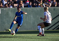 Seattle, WA - Saturday July 22, 2017: Nahomi Kawasumi, Nikki Stanton during a regular season National Women's Soccer League (NWSL) match between the Seattle Reign FC and Sky Blue FC at Memorial Stadium.