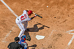 30 April 2017: Washington Nationals starting pitcher Joe Ross hits a sacrifice bunt in the 3rd inning against the New York Mets at Nationals Park in Washington, DC. The Nationals defeated the Mets 23-5, with the Nationals setting several individual and team records, in the third game of their weekend series. Mandatory Credit: Ed Wolfstein Photo *** RAW (NEF) Image File Available ***