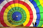 Inside look at hot air balloon inflation, Kodak Albuquerque International Balloon Fiesta, Albuquerque, New Mexico