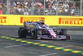 17th March 2019, Melbourne Grand Prix Circuit, Melbourne, Australia; Melbourne Formula One Grand Prix, race day; The number 11 SportPesa Racing Point driver Sergio Perez during the race