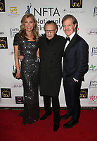 LOS ANGELES, CA - DECEMBER 5: Shawn King, Larry King, William. H. Macy, at The National Film and Television Awards at The Globe Theater in Los Angeles, California on December 5, 2018. Credit: Faye Sadou/MediaPunch