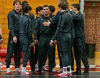 Stanford, California - February 9, 2020: Stanford Wrestling defeats Oregon State 25-12 at Burnham Pavilion in Stanford, California.