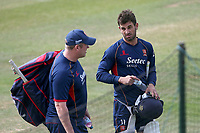 Essex skipper Ryan ten Doeschate in conversation with head coach Anthony McGrath ahead of Essex CCC vs Nottinghamshire CCC, Specsavers County Championship Division 1 Cricket at The Cloudfm County Ground on 23rd June 2018