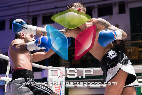 Sam Cox vs Stefan Sashov 4x3 - Bantamweight Contest During Goodwin Boxing - Strike Force. Photo by: Simon Downing.<br /> <br /> Saturday March 10th 2018 - York Hall, Bethnal Green, London, United Kingdom.