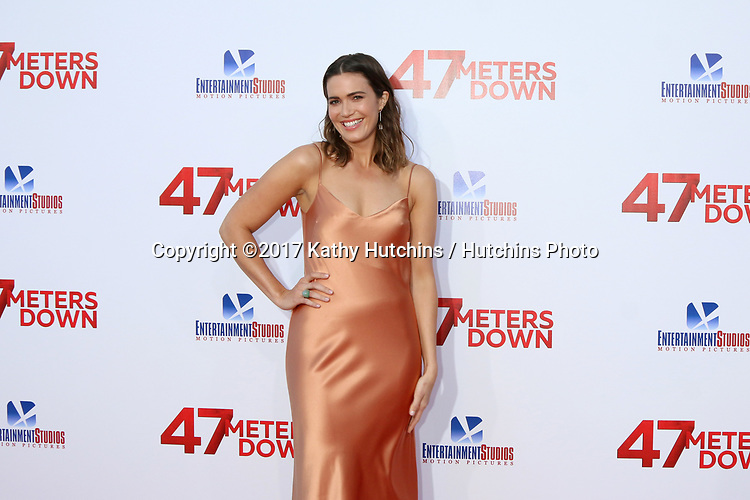 """LOS ANGELES - JUN 12:  Mandy Moore at the """"47 Meters Down"""" Premiere at the Village Theater on June 12, 2017 in Westwood, CA"""