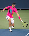 August 15,2018:   Misha Zverev (GER) loses to Grigor Dimitrov (BUL) 7-6, 7-5, at the Western & Southern Open being played at Lindner Family Tennis Center in Mason, Ohio.  ©Leslie Billman/Tennisclix/CSM