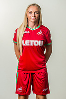 Wedensday 26 July 2017<br />Pictured: Kelly Newcombe<br />Re: Swansea City Ladies Squad 2017- 2018 at the Liberty Stadium, Wales, UK