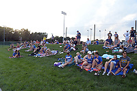Kansas City, MO - Sunday August 28, 2016: Fans during a regular season National Women's Soccer League (NWSL) match between FC Kansas City and the Boston Breakers at Swope Soccer Village.