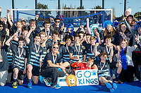 King's High School celebrate winning the Rankin Cup.  Rankin Cup and India Shield 2019 Secondary School Hockey Tournament, Nga Puna Wai Sports Hub, Christchurch, Saturday 07 September 2019. Photo: Martin Hunter/Hockey NZ