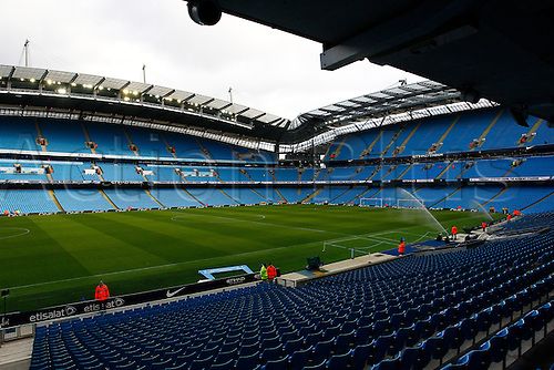 14.02.2016. The Etihad, Manchester, England. Barclays Premier League. Manchester City versus Tottenham Hotspur. A general view of Manxhester City's Etihad Stadium before today's game.