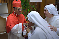 Cardinal Toribio Ticona Porco,   Pope Francis leads a consistory for the creation of five new cardinals  at St Peter's basilica in Vatican on  June 28, 2018