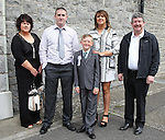 Shane O'Brien with his family on first communion day in Duleek.