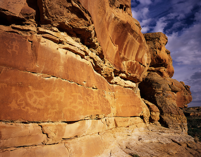Petroglyphs; Penasco Blanco Trail, Chaco Culture National Historic Site; New Mexico