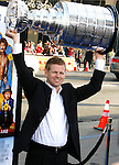 "Detroit Red Wings goalie Chris Osgood arrives at the Los Angeles Premiere of ""The Love Guru"" on June 11, 2008 at Grauman's Chinese Theatre in Hollywood, California."