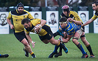 Action from the Canterbury Metro Premier club rugby trophy final between New Brighton and Lincoln University at  Rugby Park in Christchurch, New Zealand on Sunday, 29 July 2018. Photo: Joe Johnson / lintottphoto.co.nz