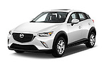 2016 Mazda CX3 Skydrive 5 Door Suv Angular Front stock photos of front three quarter view