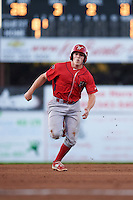 Williamsport Crosscutters catcher Henri Lartigue (40) running the bases during a game against the Batavia Muckdogs on September 2, 2016 at Dwyer Stadium in Batavia, New York.  Williamsport defeated Batavia 9-1. (Mike Janes/Four Seam Images)