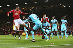 Chris Smalling of Manchester United miskicks a late chance - Manchester United vs West Ham United - Barclay's Premier League - Old Trafford - Manchester - 05/12/2015 Pic Philip Oldham/SportImage