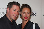 Writer/director Ed Burns and his wife, model Christy Turlington arrive at the Tribeca Talks: Storytellers with Ed Burns & world premiere of Summertime at BMCC Tribeca PAC, on April 27, 2018, during the 2018 Tribeca Film Festival.