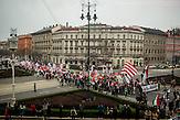 Eine Kundgebung der rechtsextreme Jobbik-Partei am 15. März 2014 in Budapest, am Gedenktag der Revolution von 1848 in Ungarn / Jobbik celebrates the anniversary of the Hungarian revolution on March 15
