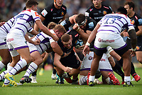 Sam Simmonds of Exeter Chiefs scores a try in the first half. Gallagher Premiership match, between Exeter Chiefs and Leicester Tigers on September 1, 2018 at Sandy Park in Exeter, England. Photo by: Patrick Khachfe / JMP