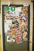 Workshop pinboard for photos mostly of students and staff.  Able Skills in Dartford, Kent, runs courses in construction industry skills like, bricklaying, carpentry and tiling.