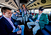 LEXINGTON, KENTUCKY - APRIL 08: Patrons join in an impromptu dance on a party bus on The Hill on Bluegrass Stakes Day at Keeneland Race Course on April 8, 2017 in Lexington, Kentucky. (Photo by Scott Serio/Eclipse Sportswire/Getty Images)